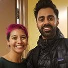 Natalie Rojas with Hasan Minhaj