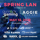 A flyer for Aggie Gaming's Spring LAN.