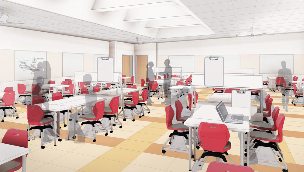 Active learning classroom 9with tables)