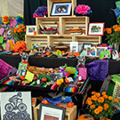 A Day of the Dead offering display.