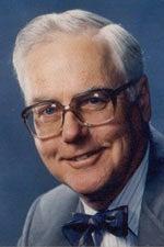 F. William Blaisdell, wearing bowtie, mugshot