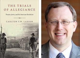 Book cover and Carlton Larson mugshot