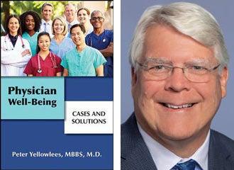 Book cover and Peter Yellowlees mugshot