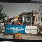 A sketch showing the Graduate Center construction.