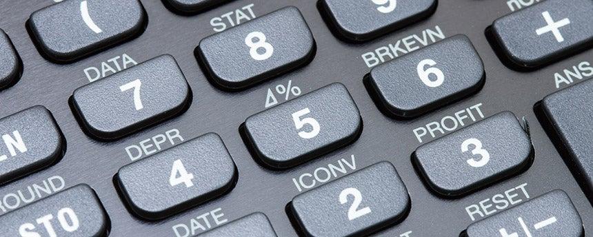 Closeup of calculator