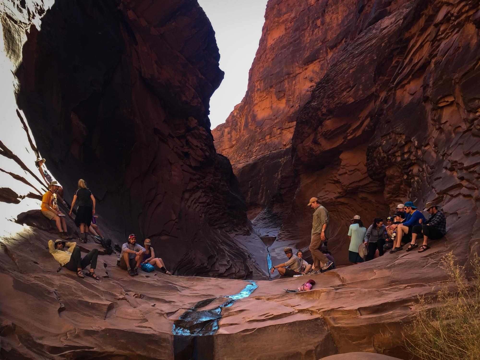 Students in North Canyon of Grand Canyon