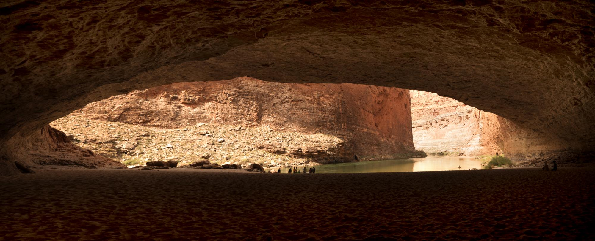 Inside Red Wall Cavern of the Grand Canyon