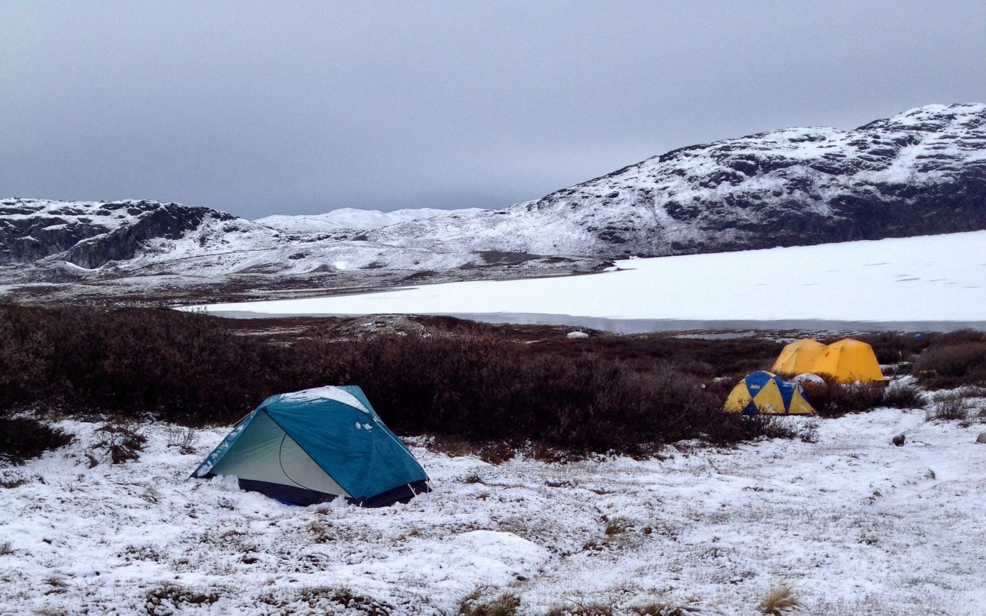 Greenland snow scene