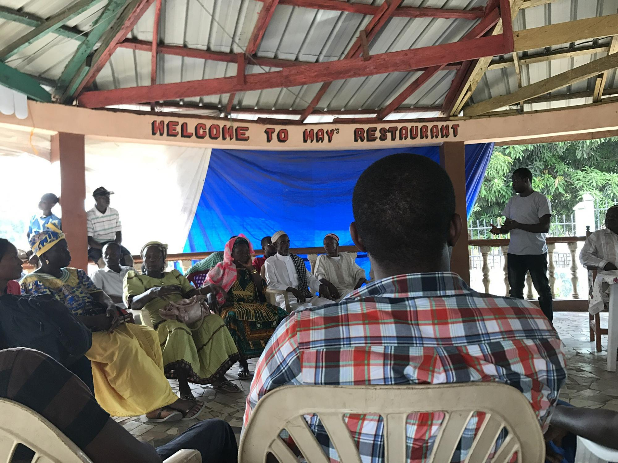 Community meeting in Africa