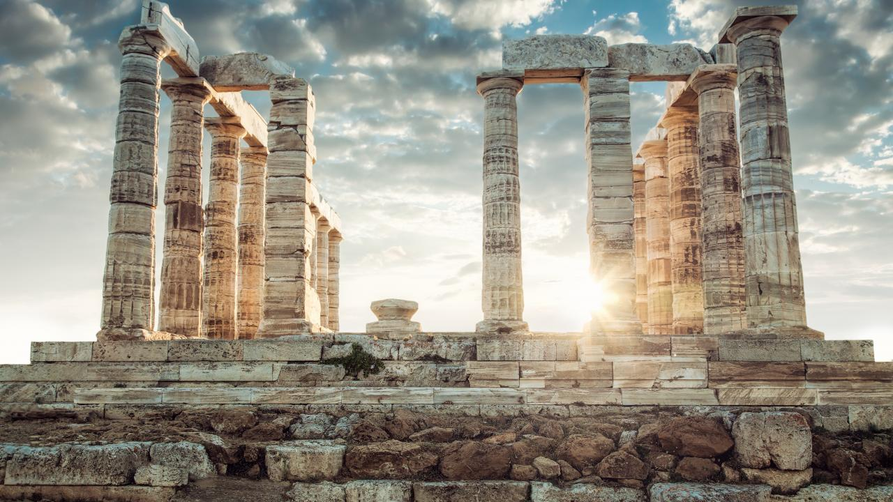 Classics majors study ancient Greece and its culture, including artifacts such as this Poseidon Temple in Greece.