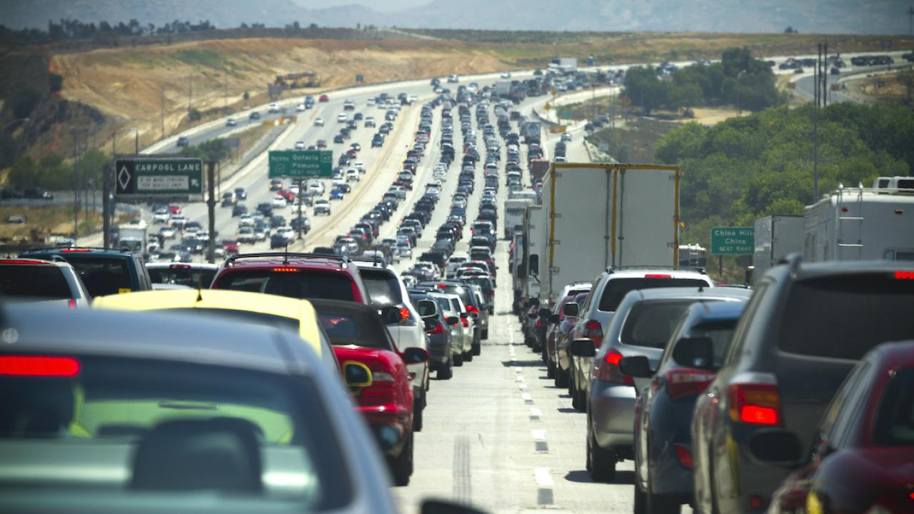 Traffic in southern California