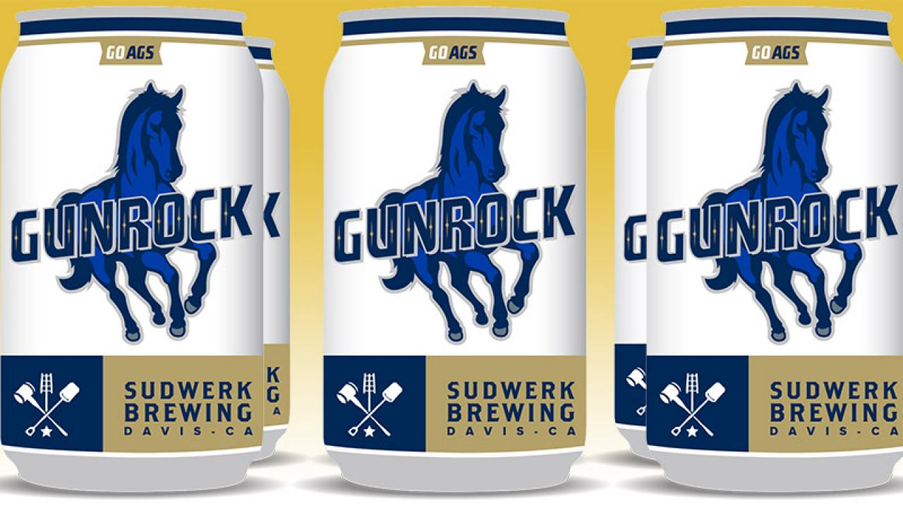 Image: Gunrock lager can.