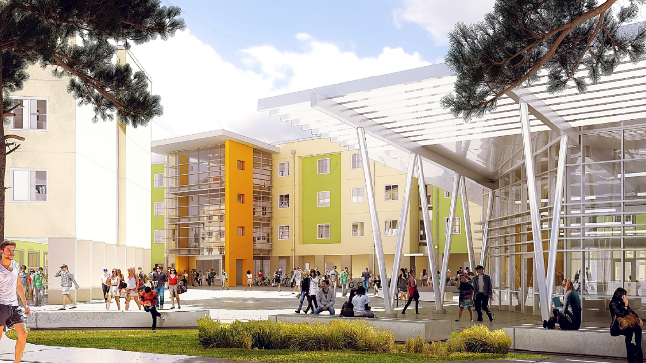 Rendering of a residence hall