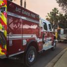 UC Davis Fire Department brushfire truck (Type III) in Ventura County