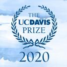 "Logo: ""The UC Davis prize"" in laurel wreath"