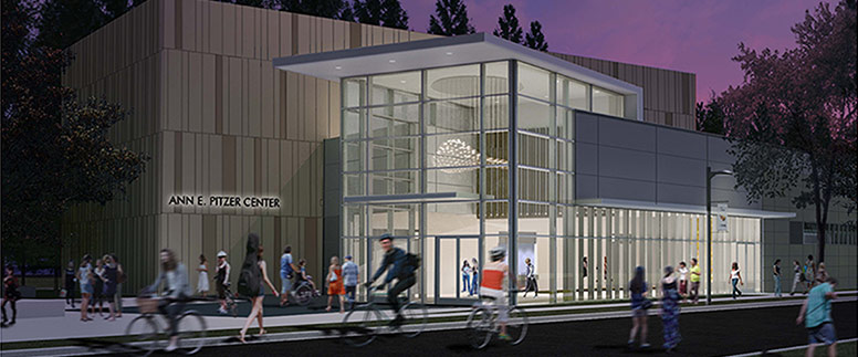 Rendering of the Ann E. Pitzer music building