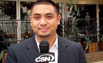 Ryan Maquiñana with microphone