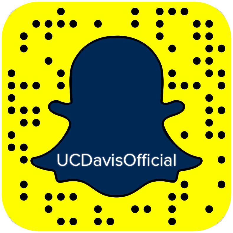 Follow UC Davis on Snap Chat