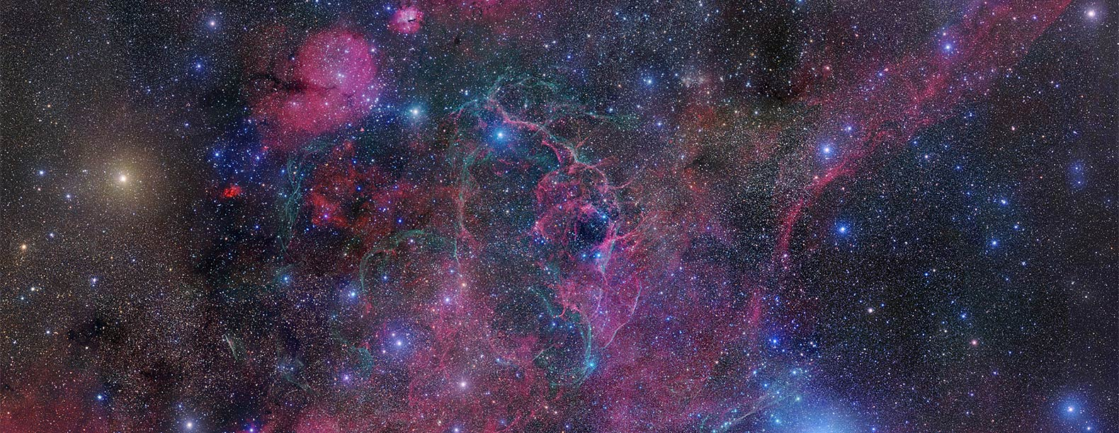 View of the expanding debris cloud from the death explosion of a massive star
