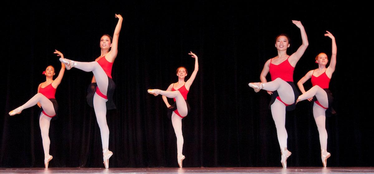 UC Davis' Dance Revolution performs on stage.