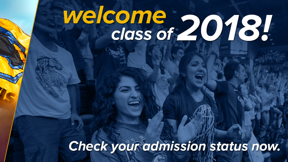 Welcome class of 2018! Check your admission status now.