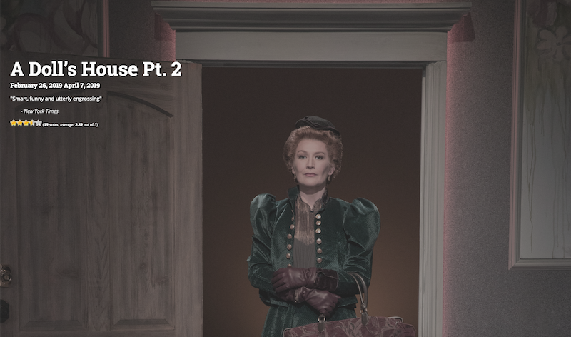 "Nora on stage in ""A Doll's House Pt. 2"""