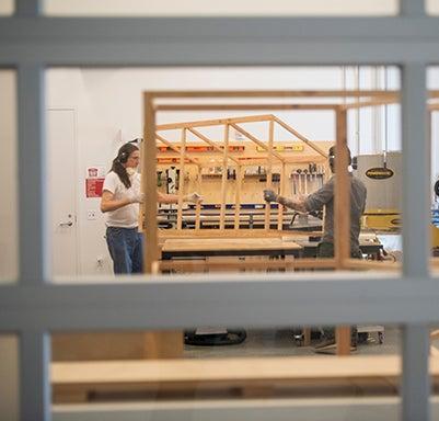 Window into museum exhibition preparation.