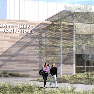 Rendering of the Betty Irene Moore School of Nursing