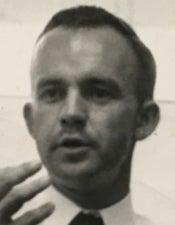 Jim Beutel mugshot (lecturing), black and white, l