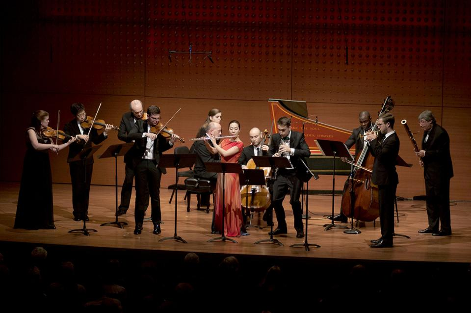 The Chamber Music Society of Lincoln Center performing on stage.