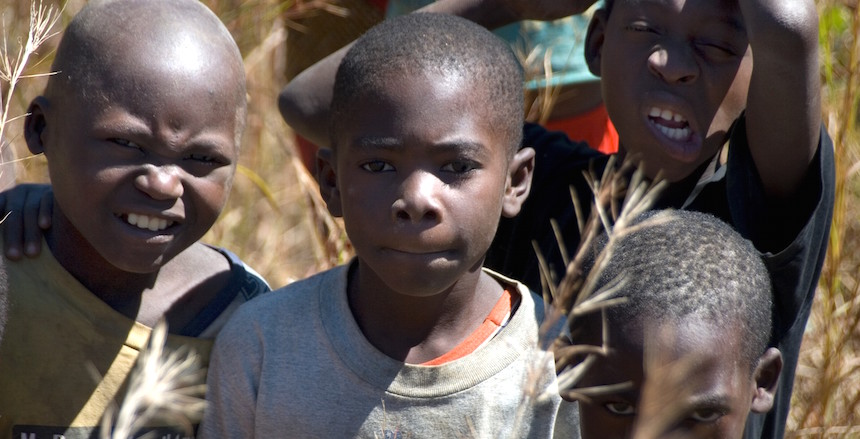 Children in Zambia.