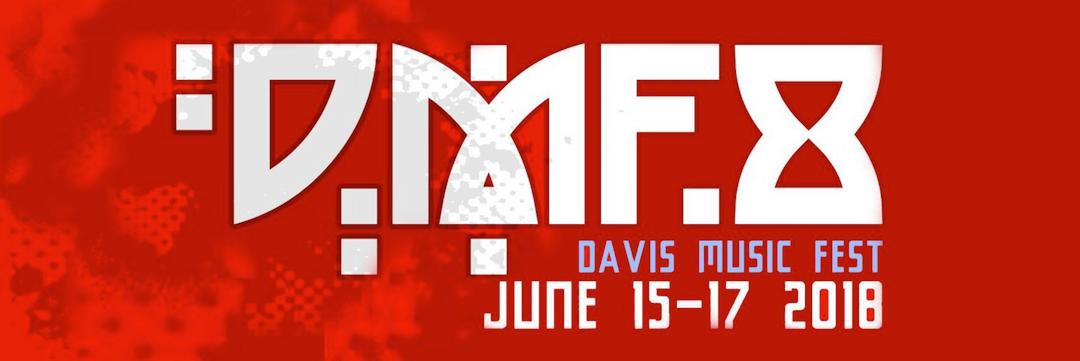 The Davis Music Fest 8 logo.