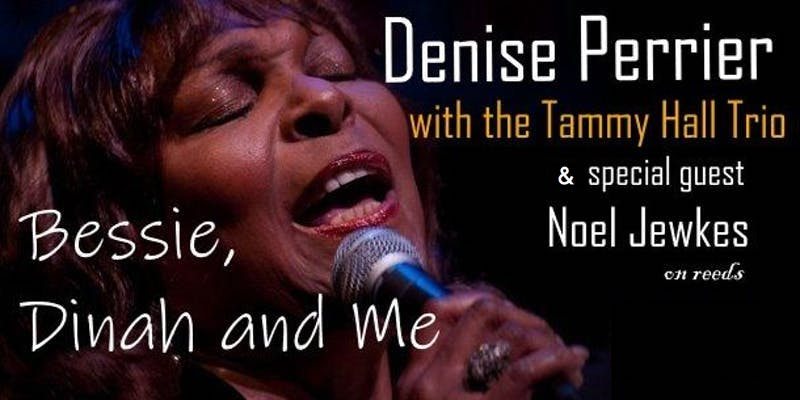 Denise Perrier singing on stage.