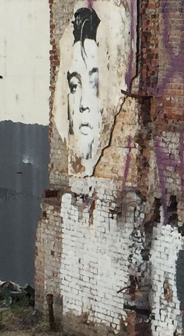 Elvis Presley painting on wall