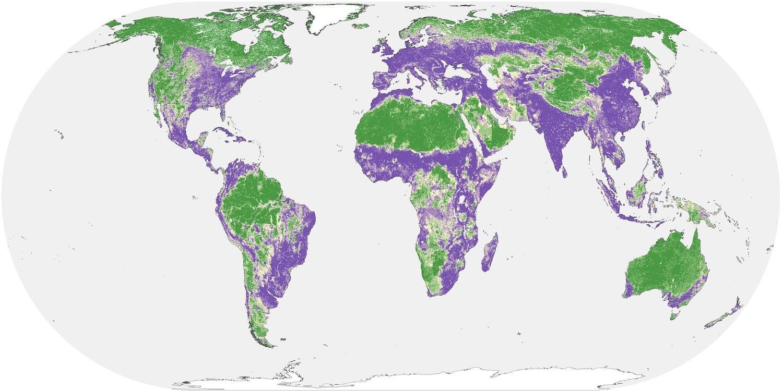 global human influence map