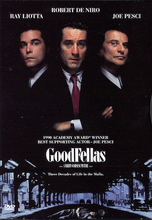 A promotional theatricsl poster for GoodFellas.