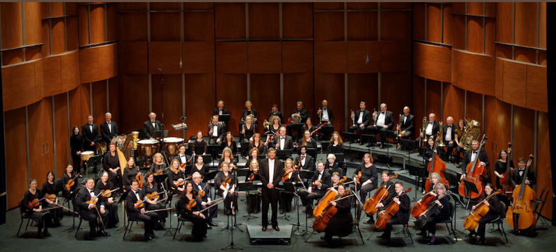 The Folsom Lake Symphony on stage.