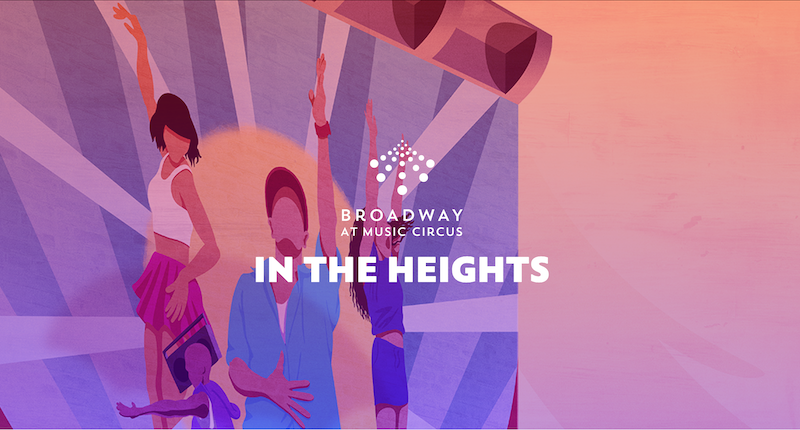 """A promotional graphic for """"In the Heights."""""""