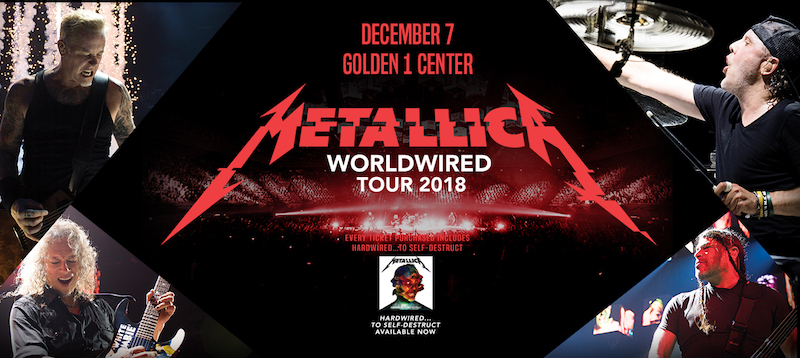 The Metallica WorldWired Tour logo.