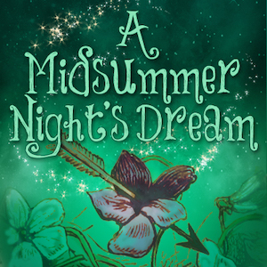 A graphical logo for A Midsummer Night's Dream.