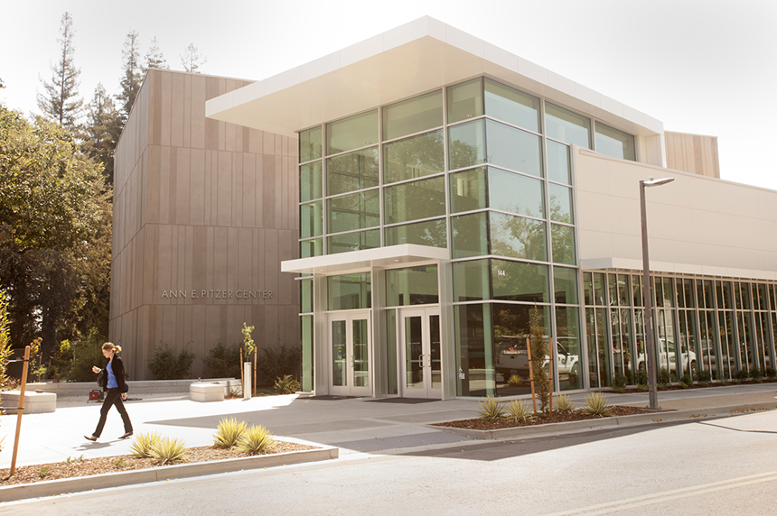 The front of the Ann E. Pitzer Center