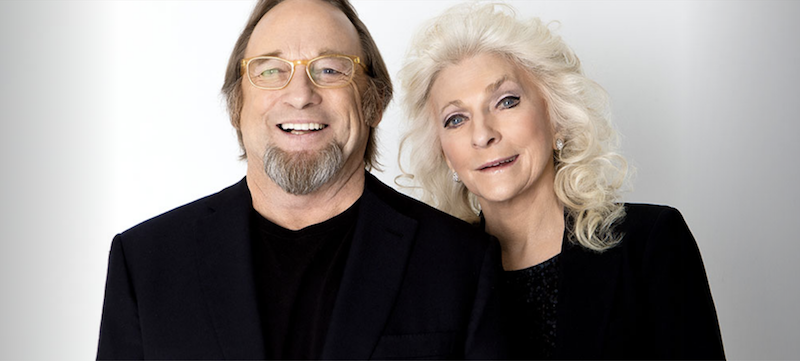 A photo of Stephen Still and Judy Collins.