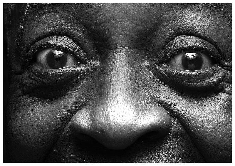 A super-closeup of Ural Thomas' eyes.