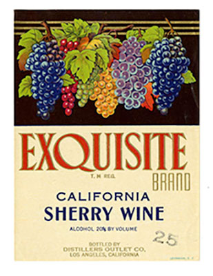 Exquisite sherry wine label