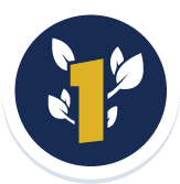 UC Davis is Ranked number in green schools - Badge with a number 1 and leaves