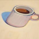 painting of coffee cup by Wayne Thiebaud